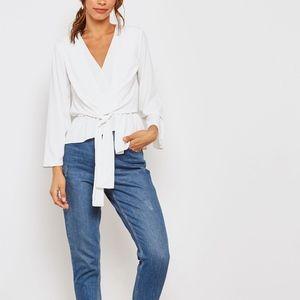 New Tiffany Asymmetrical Blouse TOPSHOP